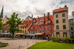 View on Riga downtown in Latvia Royalty Free Stock Images