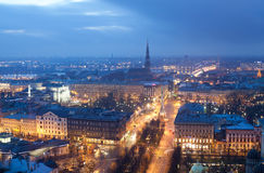 View of Riga. In the evening Royalty Free Stock Images