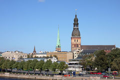 View of Riga with Riga Cathedral. Latvia Royalty Free Stock Images