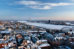 View on Riga town Royalty Free Stock Images
