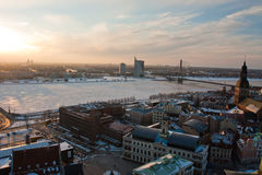 View on Riga town Royalty Free Stock Photos