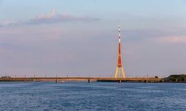 View of Riga TV tower - Latvia Royalty Free Stock Photo