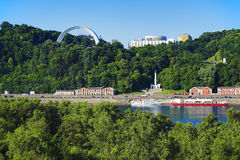 View on the right bank of the Dnieper in Kiev Stock Photos