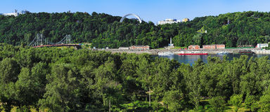 View on the right bank of the Dnieper in Kiev Royalty Free Stock Photos