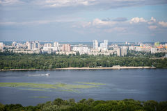 View from the right bank in Kiev Royalty Free Stock Images