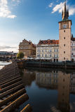 View from right bank of river Vltava Stock Photos