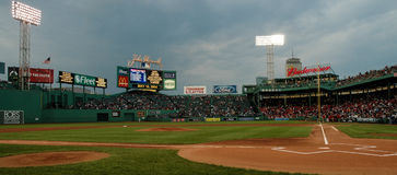 View of the right field in Fenway Park. Royalty Free Stock Photography
