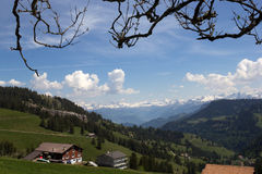 View from the Rigi mounatin with Alps, Switzerland Stock Photography