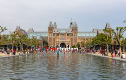 View of Rijksmuseum in Amsterdam Stock Photography