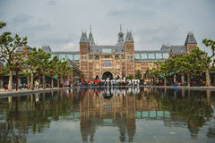 View of Rijksmuseum in Amsterdam Stock Photos