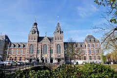 View of Rijksmuseum in Amsterdam. Netherlands stock image