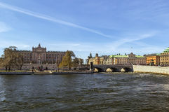 View of Riksdag, Stockholm Stock Photo