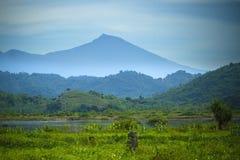 View on Rinjani volcano in Lombok island, Indonesia. Royalty Free Stock Photo