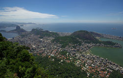 View of Rio de Janeiro from Corcovado Royalty Free Stock Photography