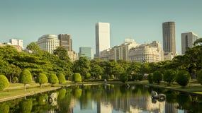 View of Rio de Janeiro downtown from Praca Paris Paris Square. Brazil royalty free stock photos