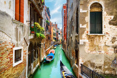 View of the Rio de S. Maria Mater Domini Canal, Venice, Italy Royalty Free Stock Images