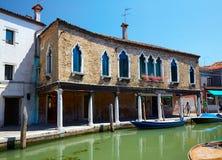 View on Rio dei Vetrai in Murano, Italy Stock Photo