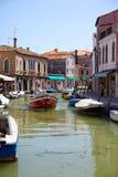 View on Rio dei Vetrai in Murano, Italy Stock Image