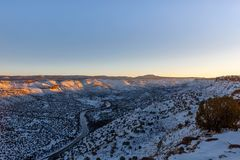 View of Rio Grande south from the White Rock Overlook, NM royalty free stock images