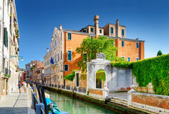 View of the Rio Marin Canal in Venice, Italy Royalty Free Stock Images