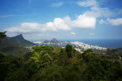 View of Rio from the Vista Chinesa stock photography