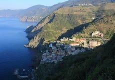 View of Riomaggiore, Cinque Terre. Morning in Riomaggiore, Cinque Terre, Italy Royalty Free Stock Photography