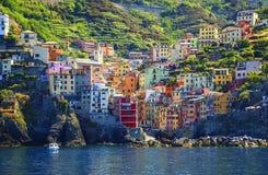 View of Riomaggiore, Cinque Terre, Liguria, Italy Stock Photography