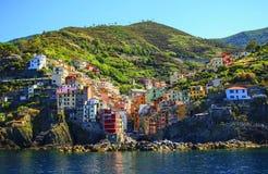 View of Riomaggiore, Cinque Terre national park, Liguria, Italy Stock Image