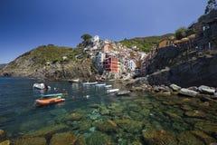 View of Riomaggiore village Stock Image