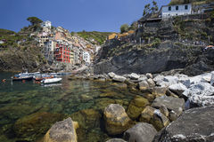 View of Riomaggiore village Royalty Free Stock Photography