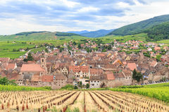 View of Riquewihr village in Alsace Stock Image