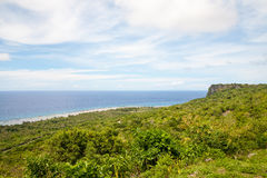 View of Ritidian point in Guam. USA royalty free stock photography
