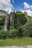 Ritlite - rock formations at Iskar River Gorge, Balkan Mountains, Bulgaria. View of Ritlite - rock formations at Iskar River Gorge, Balkan Mountains, Bulgaria stock images