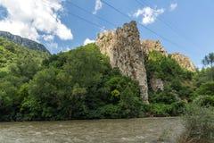 Ritlite - rock formations at Iskar River Gorge, Balkan Mountains, Bulgaria. View of Ritlite - rock formations at Iskar River Gorge, Balkan Mountains, Bulgaria stock photos