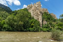 Ritlite - rock formations at Iskar River Gorge, Balkan Mountains, Bulgaria. View of Ritlite - rock formations at Iskar River Gorge, Balkan Mountains, Bulgaria stock image