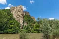 Ritlite - rock formations at Iskar River Gorge, Balkan Mountains, Bulgaria. View of Ritlite - rock formations at Iskar River Gorge, Balkan Mountains, Bulgaria royalty free stock images