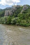 Ritlite - rock formations at Iskar River Gorge, Balkan Mountains, Bulgaria. View of Ritlite - rock formations at Iskar River Gorge, Balkan Mountains, Bulgaria royalty free stock image