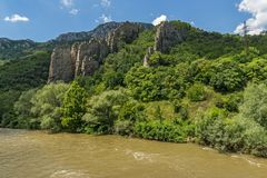 Ritlite - rock formations at Iskar River Gorge, Balkan Mountains, Bulgaria. View of Ritlite - rock formations at Iskar River Gorge, Balkan Mountains, Bulgaria royalty free stock photography