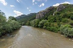 Ritlite - rock formations at Iskar River Gorge, Balkan Mountains, Bulgaria. View of Ritlite - rock formations at Iskar River Gorge, Balkan Mountains, Bulgarian royalty free stock image