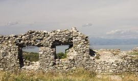View from the riuns of castle Skoder in albania on river Buna Stock Photo