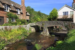 View of the river in Allerford, UK Royalty Free Stock Photo