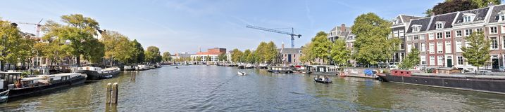 View on the river Amstel in Amsterdam Netherlands Royalty Free Stock Image