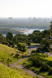 View of the river from  bank Dnieper in Kiev Stock Photography