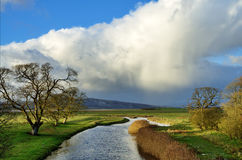 View of the River Bela, Milnthorpe. Stock Image