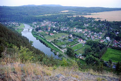 View of river Berounka Royalty Free Stock Photos
