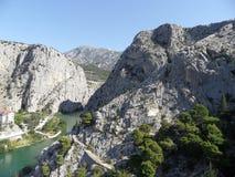 View of river Cetina stock photos