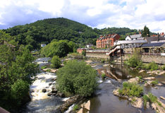 View of Llangollen in Denbighshire Wales UK Stock Photography