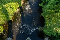 Pontcysyllte Aqueduct near Llangollen in Wales in spring royalty free stock photo