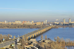 View of the river Dnieper stock images