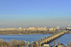 View of the river Dnieper royalty free stock images